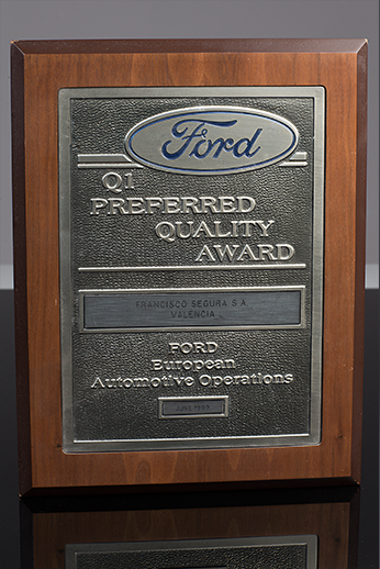 Quality policy grupo segura for Ford motor company awards